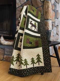 Moose in the Cabin Quilt Kit
