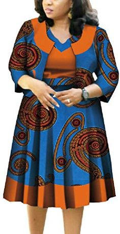 Looking for Winwinus Womens Plus Size Wear Work 2 Piece Cardigan Cotton Skater Dress ? Check out our picks for the Winwinus Womens Plus Size Wear Work 2 Piece Cardigan Cotton Skater Dress from the popular stores - all in one. African Dresses For Kids, African Maxi Dresses, Latest African Fashion Dresses, African Print Fashion, African Attire, African Inspired Fashion, Ankara Fashion, Africa Fashion, African Prints