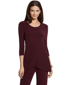 Chico's Travelers Classic Crossover Top #chicos