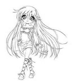 Cute anime coloring pages bing images how to draw pinterest Anime Cat Coloring Pages Horse Coloring Pages Emo Anime Coloring Pages