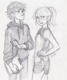 -the afterlife- Huccup and Astrid modern AU. Art by Burdge