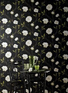 Peony Place osborne and little nina campbell Die Wallpaper, Luxury Wallpaper, Contemporary Wallpaper, Designer Wallpaper, Nina Campbell Wallpaper, Osborne And Little, Deco Design, Beautiful Wall, Bird Cage