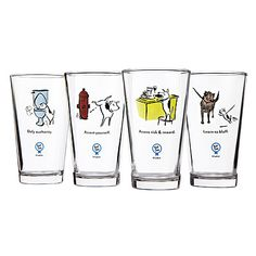 Look what I found at UncommonGoods: bad dog wisdom tumblers... for $35 #uncommongoods