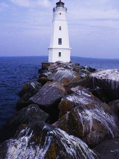 Ashland Breakwater Lighthouse Wisconsin