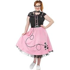 50s Sweetheart Poodle Skirt Plus Size Costume California ... https://www.amazon.com www.californiacostumes.com
