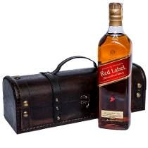 Whisky Red Label Johnnie Walker Com Caixa Especial