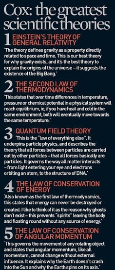 The Greatest Scientific Theories