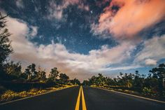 Starry skies and volcano coloring the clouds. Glory. by eljackson