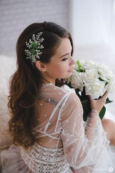 bridal hair vine bridal headpiece green vine wedding от LikaBridal