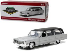 1966 Cadillac S&S Limousine Silver Black Top Precision Collection Limited Edition 396 pieces Worldwide Diecast Model Car Greenlight 18005 Toy Model Cars, Diecast Model Cars, Rubber Tires, Pontiac Gto, Scale Models, Cadillac, Corvette, Black Tops, The Incredibles