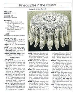 free crochet round pineapple tablecloth pattern (2/5)