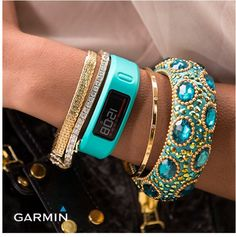 How to wear a sporty Fitbit or similar in a dressier way.