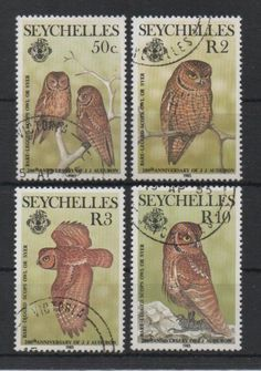 Owl post stamps Seychelles.
