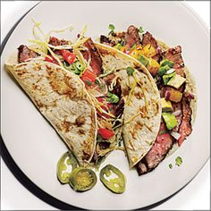 Flank Steak Tacos | MyRecipes.com #protein #grain #myplate