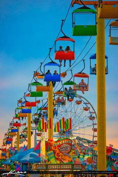 south_florida_fair_2016_bright_colored_rides by CaptainKimo