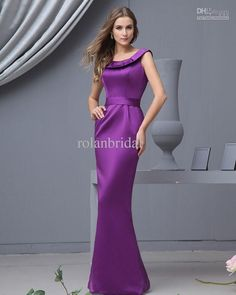 Reckon this will be nice? Wholesale 2013 Sexy Scoop Neck Purple Taffeta Ankle-Length Mermaid Bridesmaid Dresses Prom Party Gowns RL5075, Free shipping, $76.16-90.72/Piece | DHgate
