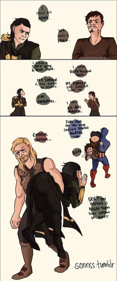 lloooooollllllllll ssooooooo fuunnnnnnyyy!!!! Loki and Stark is probably the best character combination ever!