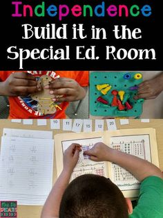 Ideas on how to begin working on independent ACADEMIC skills and how to teach students how to work for longer periods of time. www.mrspspecialti...