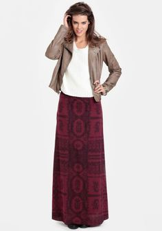 Rift Printed Maxi Skirt By Gentle Fawn