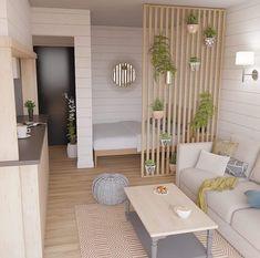 Bedroom decor 10 classic design ideas for small studio apartments 8 Studio Apartment Layout, Small Studio Apartments, Studio Apartment Decorating, Apartment Interior, Studio Apartment Divider, Small Studio Apartment Design, Apartment Ideas, Small Room Design, Studio Design