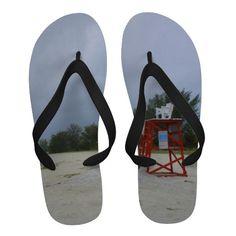 Abandoned Beach Flip Flops