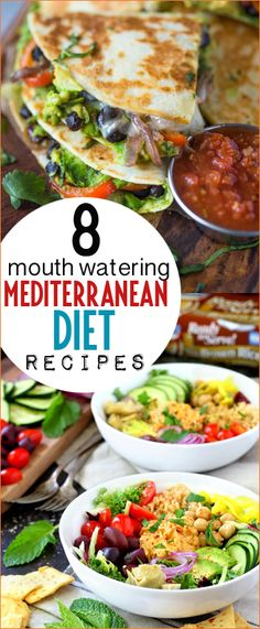 Top Mediterranean Diet Recipes. Delicious power bowls, quesadillas and egg sandwiches. Quick and easy recipes to maintain a healthy diet and appetite.