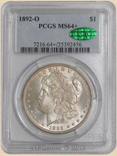 1892-O Morgan Dollar MS64+ PCGS, obverse ~ CAC