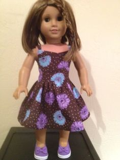 American Doll Clothes  Summer Flower Dress by Dalesdolldesigns, $18.00
