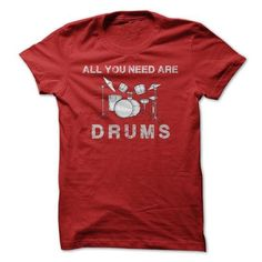 All You Need Are Drums T Shirts, Hoodies. Check Price ==► https://www.sunfrog.com/Music/All-You-Need-Are-Drums.html?41382 $22