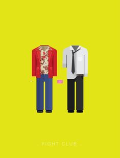 Minimalistic posters featuring the costumes of popular movies and TV shows By Frederico Birchal