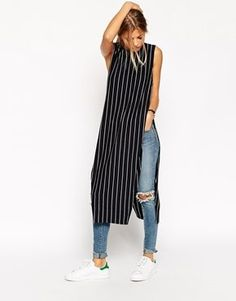 Shop for women's tops from ASOS. Shop for shirts, blouses, camisoles and going out tops, in trendy styles - sleeveless, sheer and mesh. Hijab Fashion, Fashion Dresses, Dress Over Jeans, Latest Fashion For Women, Womens Fashion, Fashion Online, Trendy Dresses, Look Cool, Chic Outfits