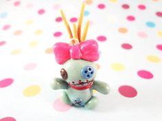 Lilo & Stitch Polymer Clay Scrump Doll Charm