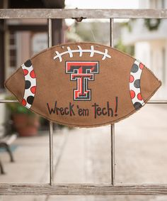Take a look at this Texas Tech Football Burlap Wall Hanging on zulily today!