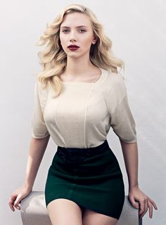 Scarlett Johansson...she is incredibly gorgeous and isn't afraid to be curvy, but rather embraces it and sees it as beautiful.