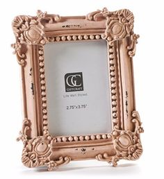 Baby Pink Ornate Small Picture Frame