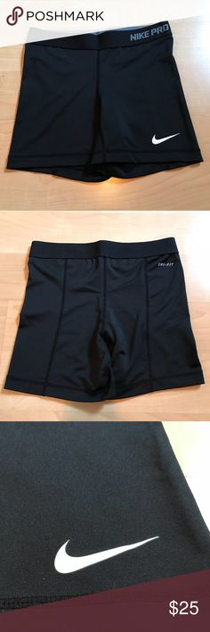 BRAND NEW, NEVER WORN!! Nike pros dry fit shorts BRAND NEW, perfect condition Nike pros! These are perfect for working out in and are really comfortable. Nike Shorts