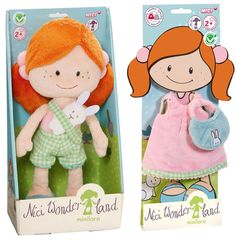"Nici Wonderland MiniLara 12"" Machine Washable Plush Doll with Dress and Purse"