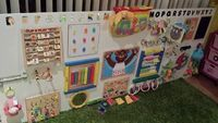 DIY sensory board collecting household objects for activities and stimulation. @ Juxtapost.com