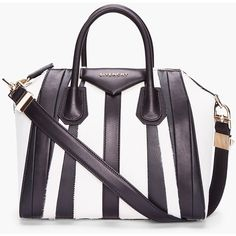 GIVENCHY Small Two-Tone Patchwork Calf-Hair Antigona Duffle ($2,776) ❤ liked on Polyvore