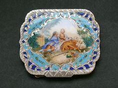 Antiquariato Oggettistica silver and enamel