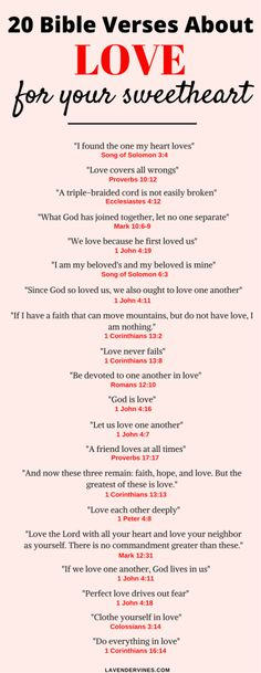 The 20 Most Popular Bible Verses About Love