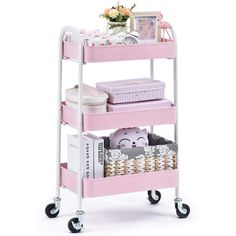 Storage Trolley On Wheels, Storage Cart, Ikea Trolley, Basket Organization, Vanity Organization, Serving Cart, Mobile Storage, Utility Cart, Home Office Storage