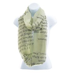 Snatch 'N Dash - Lord's Prayer Infinity Scarf in Light Grey - Ends 12/2/2013