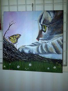 Gato con Mariposa