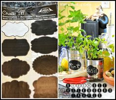 diy #recycled cans herb garden CAYUTE!