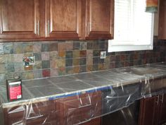 Sealing Granite Countertops Lowes : ... on Pinterest Slate backsplash, Granite countertops and Slate kitchen
