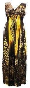 Wantdo Women's Sexy Leopard Printed Bohemian Summer Maxi Dress Plus size