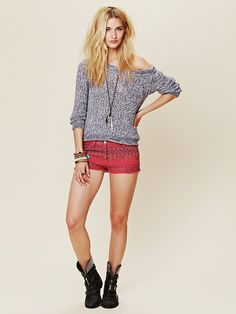 Free People - aztec print is so cute right now.