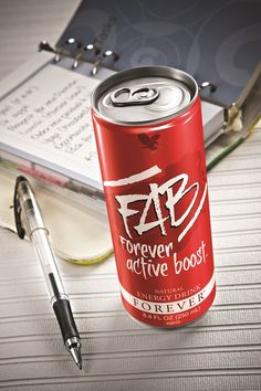 FAB Forever Active Boost™ Natural Energy Drink gives you that extra boost you need to stay active!