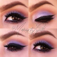 Soft lilac eyeshadow